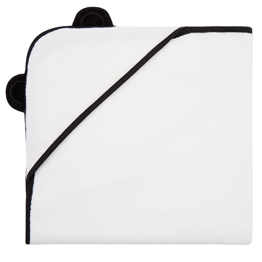 Panda White Bamboo Hooded Towel Newborn - 75 X 75