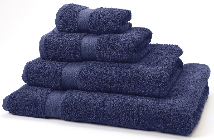 Natural Collection Organic Cotton Guest Towel - Navy