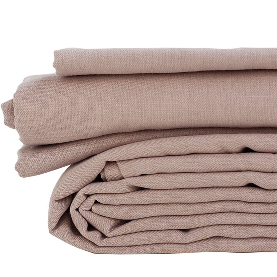 The Flax Sack Organic Linen Flat Sheet - Champage Pink - Double
