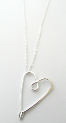 La Jewellery Recycled Petit Love Silver Necklace