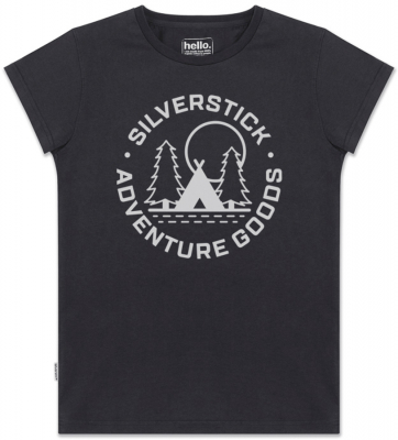 Silverstick Womens Adventure Goods T-Shirt - Charcoal