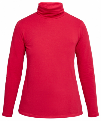 People Tree Laila Roll Neck Top - Pink