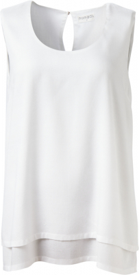 Nomads Double Layered Sleeveless Top - White