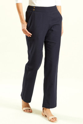 Nomads Navy Straight Leg Trouser