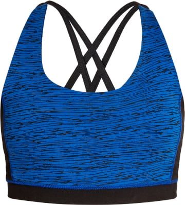 People Tree Abstract Cross Back Yoga Top - Blue & Black