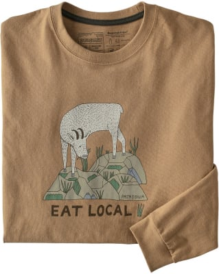 Patagonia Eat Local Goat Long Sleeved Responsibili-Tee