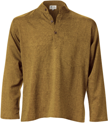 Cotton Khaddar Long Sleeve Shirt - Olive