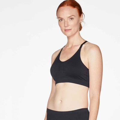 Thought Reneta Recycled Seamless Bralet - Black