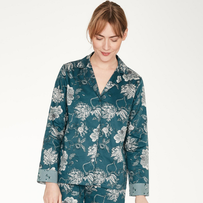 Thought Ellis Pyjama Shirt - Teal Blue
