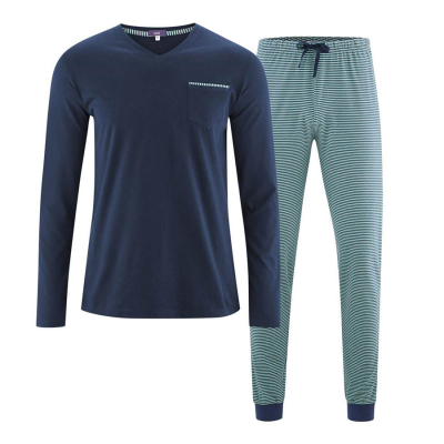 Organic Cotton Colin Pyjamas - Navy & Evergreen