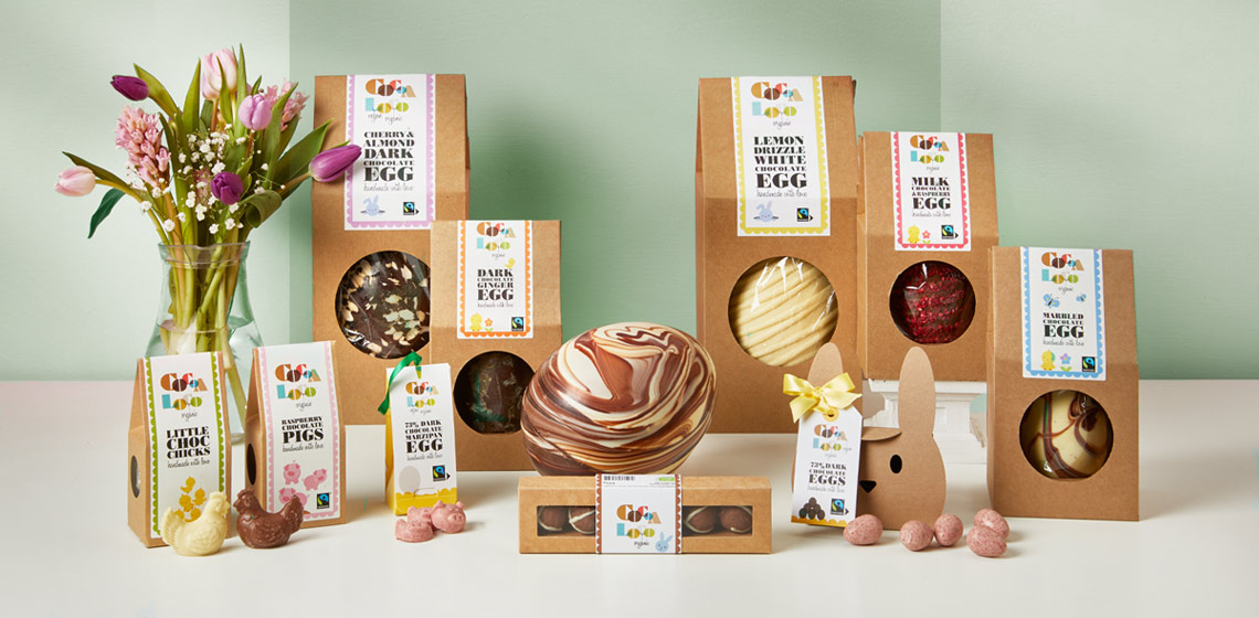 99p Delivery* -Dairy free, organic and fair trade Easter treats