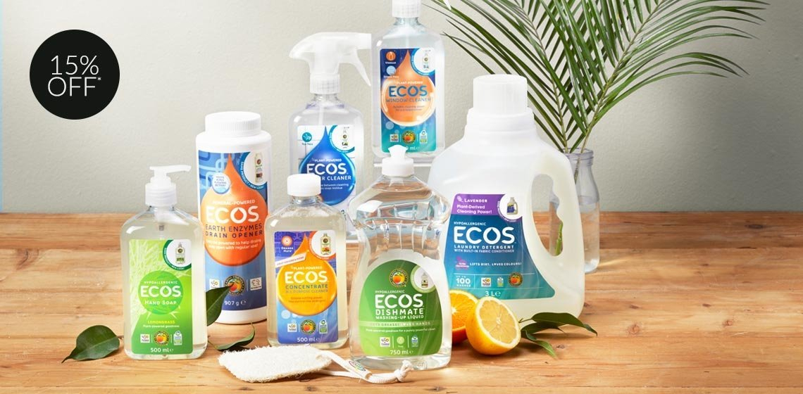 15% Off ECOS - Carbon neutral, plant powered cleaning