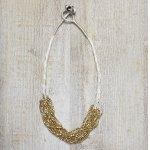 Imana Bead Necklace - Gold/Cream