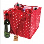Recycled Retro Spot 9 Bottle Recycling Bag