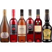 Box of 6 Valentine�s Rosé Wines & Cream Liqueur Pack