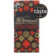 Divine 70% Dark Chocolate with Chilli & Orange 100g