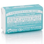 Dr Bronner Organic Baby Mild Unscented Soap Bar - 140g