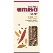 Amisa Spelt Snack Sticks - Poppy Seed & Chilli - 150g