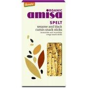 Amisa Spelt Snack Sticks - Sesame & Black Cumin - 150g
