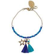 Cobalt Wishes Charm Bracelet