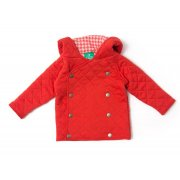 Red Double Layer Quilted Jacket