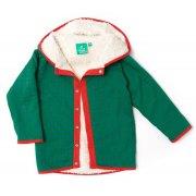 Sherper Hooded Reversible Jacket - Green Diamond