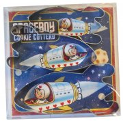 Spaceboy set of 3 Rocket Shaped Cookie Cutter
