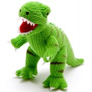 Large Knitted T-Rex Dinosaur - Green