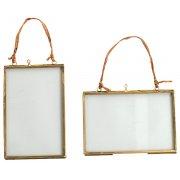 """Kiko Glass Brass - 4x6"""""""" - Portrait"""