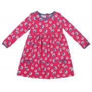 Maddie Dress Raspberry Birdies