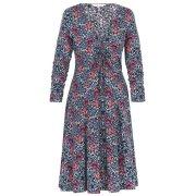 Floral Knit Dress-Black