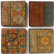 Hand Painted Assorted Terracotta Tile