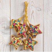Jazzy Star Decorations - Set Of 5