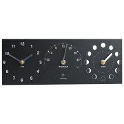 ECO Moon Phase, Clock & Thermometer