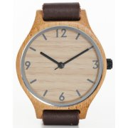 Single Strap Brown Bamboo Watch