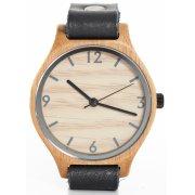 Single Strap Black Bamboo Watch