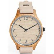 Single Strap Beige Bamboo Watch
