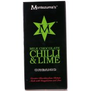Montezuma's Organic Chilli & Lime Milk Chocolate - 100g