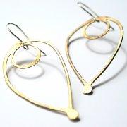 La Jewellery Recycled Brass Bloom Earrings