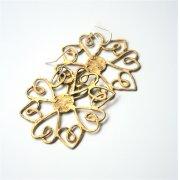 La Jewellery brass heartflake earrings
