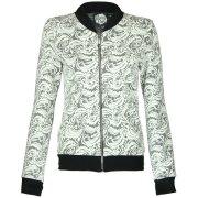 Nancy Dee Luna Floral Motif Bomber Jacket