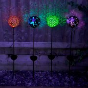 Solar Powered Large Bronze Effect Butterfly Globe Stake Light - Pack Of 2