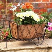 Smart Garden Traditional Metal Hay Cart Planter