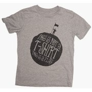 The Fableists 'This Is A Flag' Organic Unisex T-Shirt - Grey