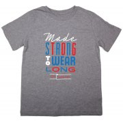 The Fableists 'Made Strong To Wear Long' Organic Unisex T-Shirt - Grey