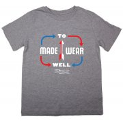 The Fableists 'Made To Wear Well' Organic Unisex T-Shirt - Grey