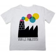 The Fableists 'Happy Factory' Organic Unisex T-Shirt - White