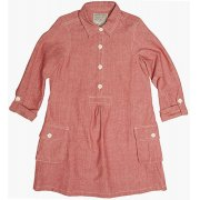 The Fableists Organic Smock Tunic Dress - Red