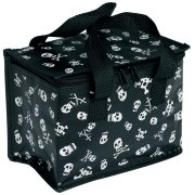 Recycled Lunch Bag Skull and Cross Bones