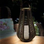 Solar Column Rattan Effect Lantern